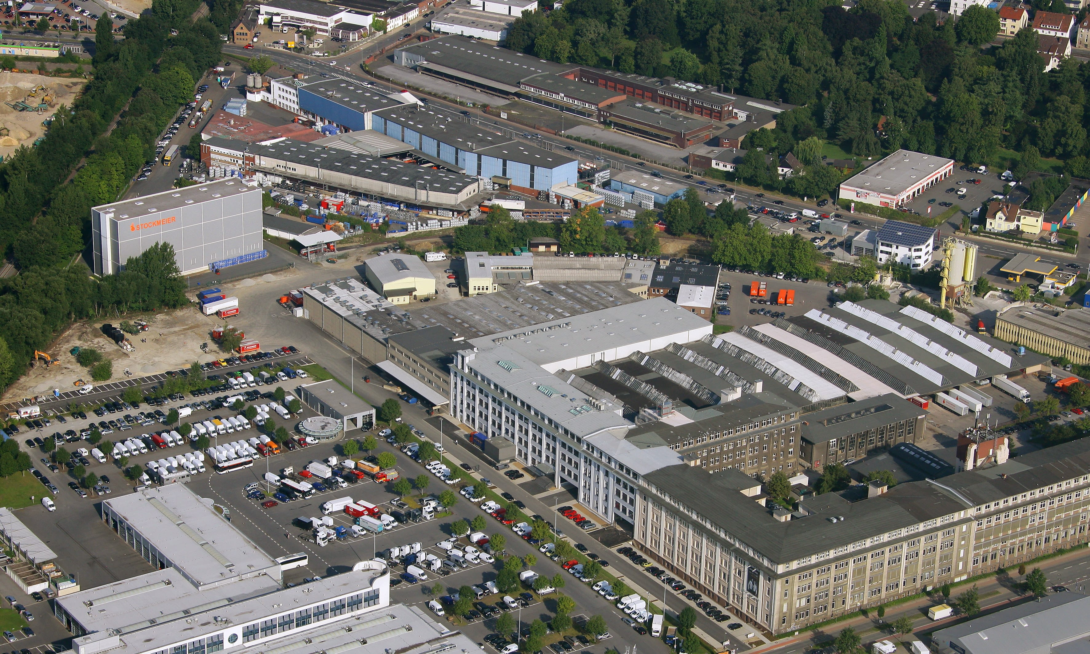 Aerial view of the STOCKMEIER Bielefeld plant