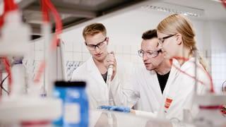 Three lab assistants