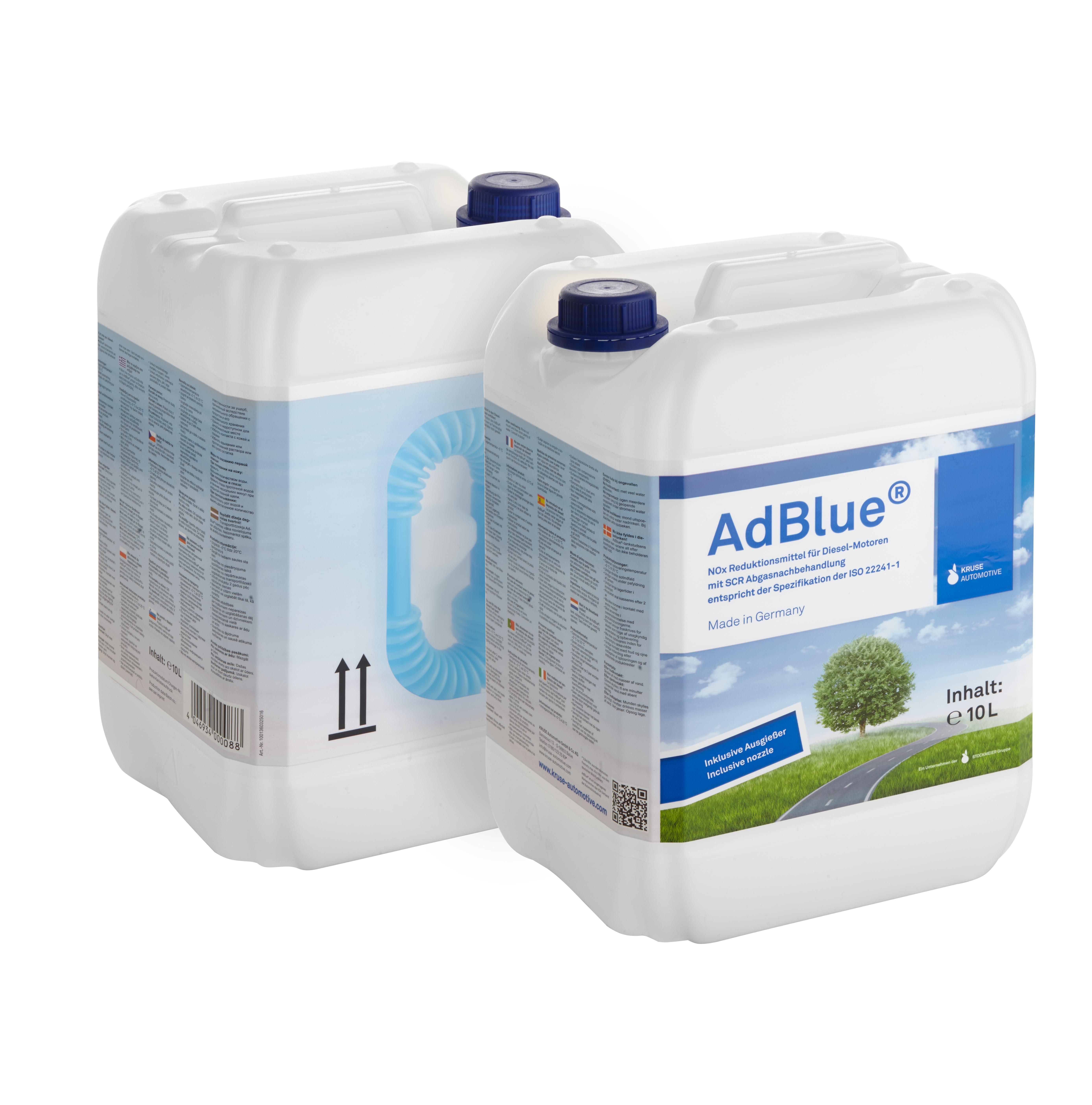 10 Liter Kanister AdBlue® mit flexiblem Ausgießer