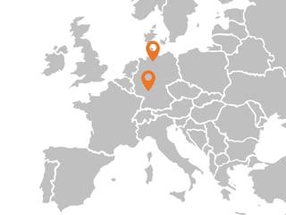 Karte mit Standorten von BASSERMANN minerals