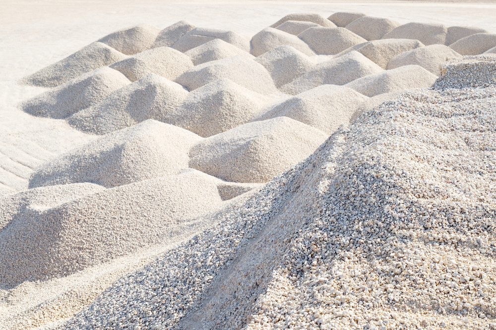 Weiße Kalksteine