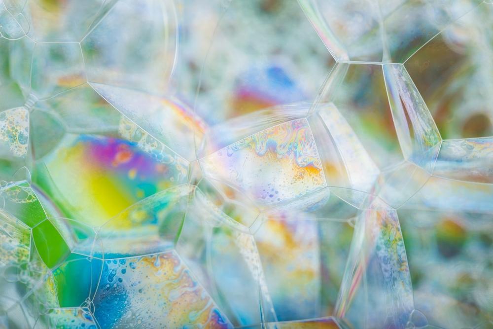 Close up foam