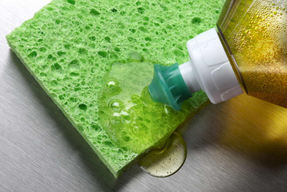 Close up sponge and cleanser