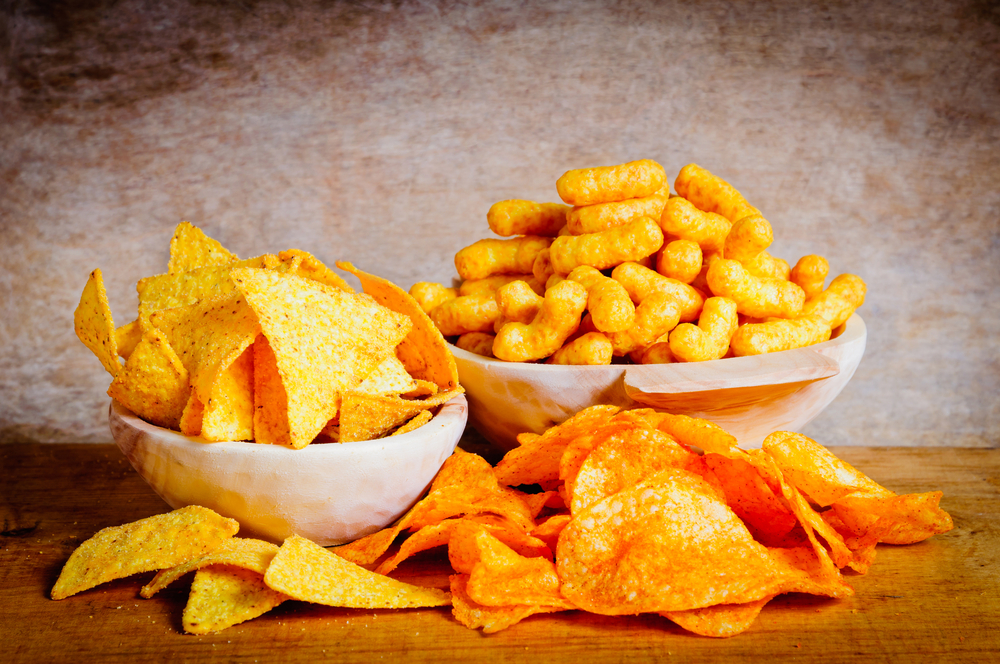Chips, nachos and curls snacks