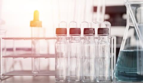 Close-up of laboratory equipment