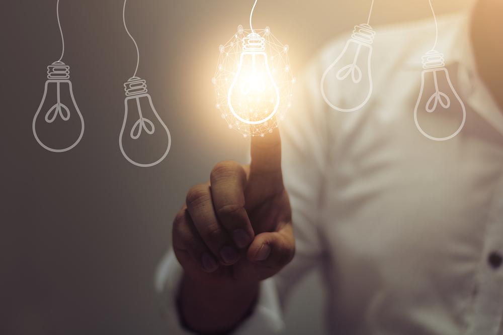 Light bulb as a symbol for open innovation